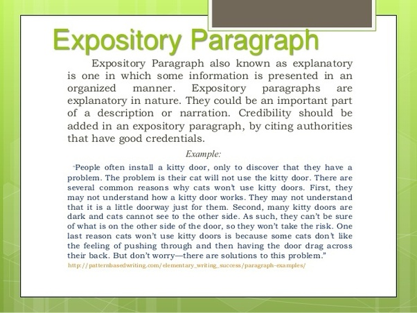 What is a expository essay example