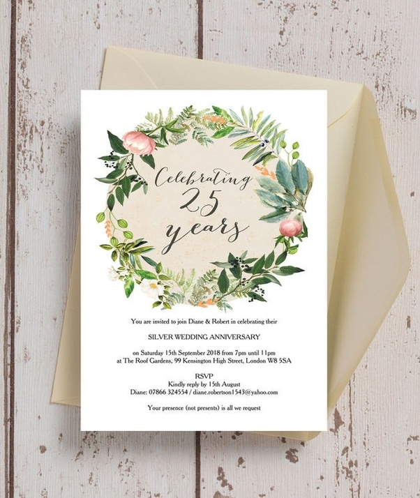 What Are The Creative Invitation For 25th Wedding