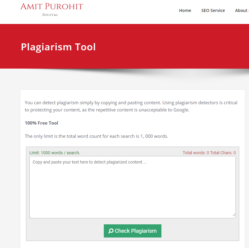 website to see if you plagiarized