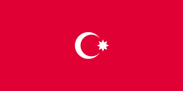 is the current turkish flag the same as the first flag of azerbaijan