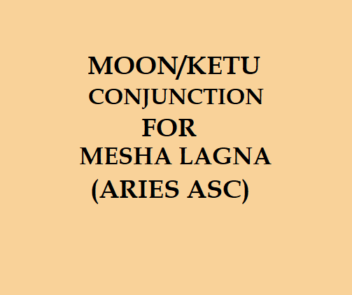 What does the same degree in conjunction of the Moon and Ketu denote
