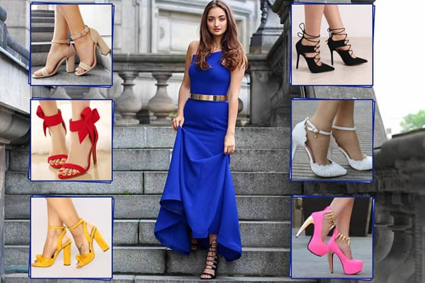 9c73da579d6c What color shoes can I wear with a blue dress other than black  - Quora