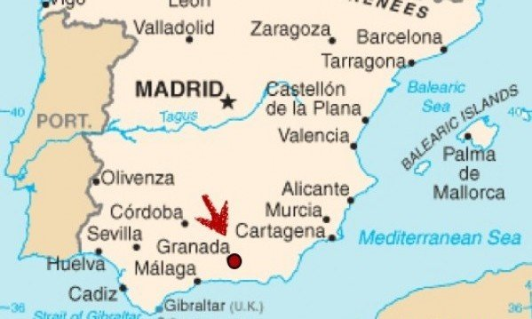 Where is Granada, Spain located at on a map of the country?   Quora