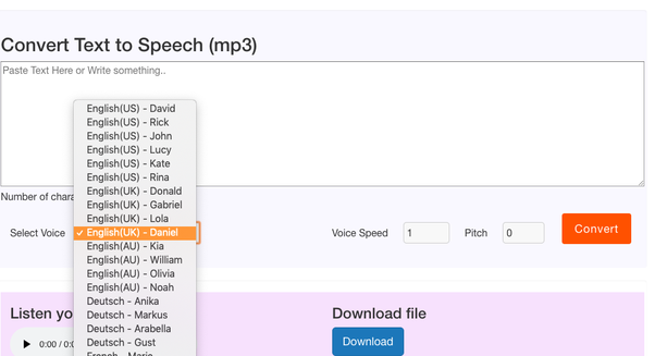 text to speech download file