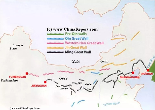 Great Wall Of China Map View.How Long Would It Take Someone To Walk The Great Wall Of China Quora