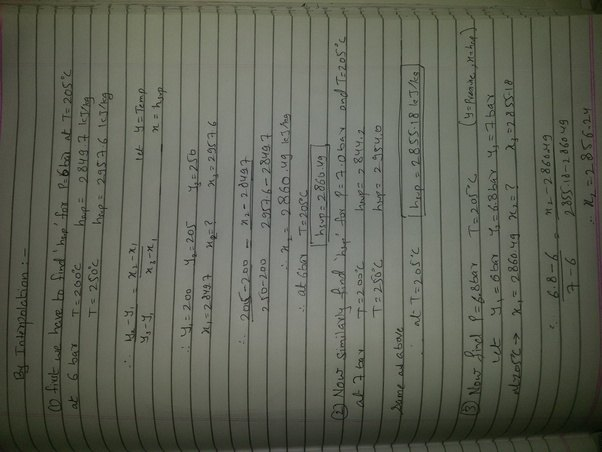How to calculate specific enthalpy at 68bar 205c in super heated i explain it in image below watchthetrailerfo