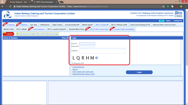 How To Update Operator Profile In Irctc