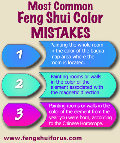 How do we use feng shui color quora for Feng shui interior paint colors
