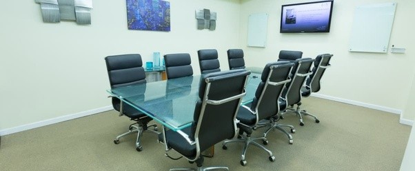 Where can I rent a small conference room with a whiteboard, a ...