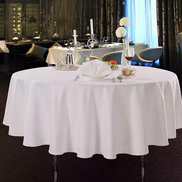 Gentil CARESUN SS023 Is A Classics White Round Tablecloth.The Tablecloth Is Made  In Woven Technique.If Youu0027re Trying To Keep Home Decor, Wedding, Or  Restaurant ...