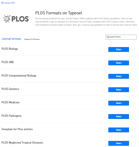 Where can i find the word template for plos journals for publishing you can start writing on the journal template immediately it allows download in pdf word and latex maxwellsz