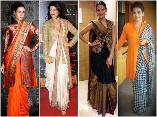 52f5554744681 How to wear a kurti with a saree - Quora
