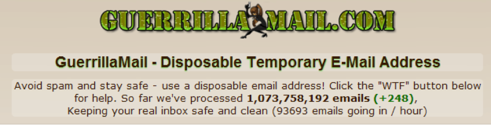 Guerilla Mail- Temporary Email Address Provider
