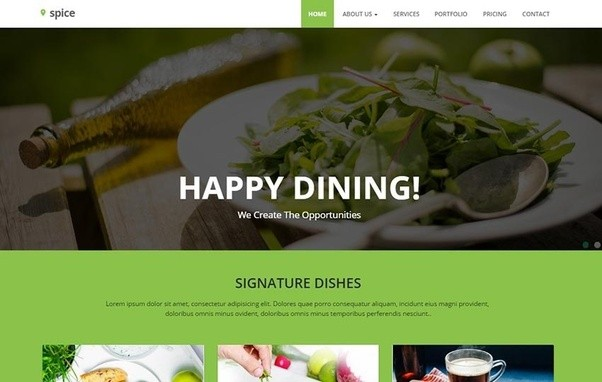 Where can i get a free html template for a restaurant website with many more at forumfinder Images