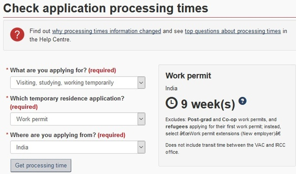 How long does it take for a Canadian work permit/visa to be