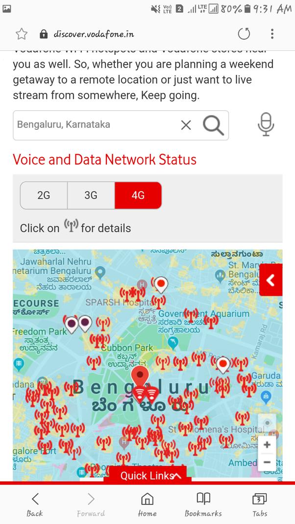 How is the Vodafone 4G speed in Bengaluru? - Quora