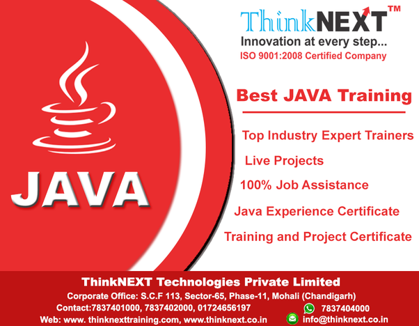 What are the best java training centres in Chandigarh? - Quora