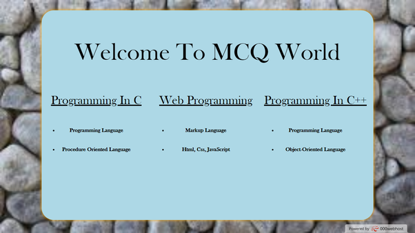 Which site is best for MCQ type questions of the C language? - Quora