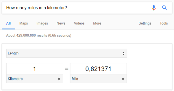 How Many Miles From >> How Many Miles Is One Kilometer Quora
