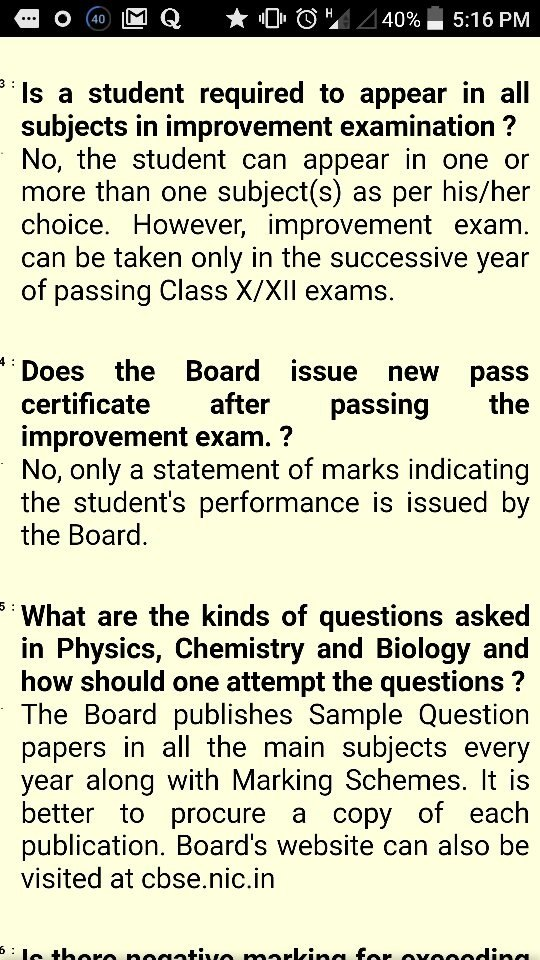 Are the students giving improvement exams of CBSE class 12 eligible ...