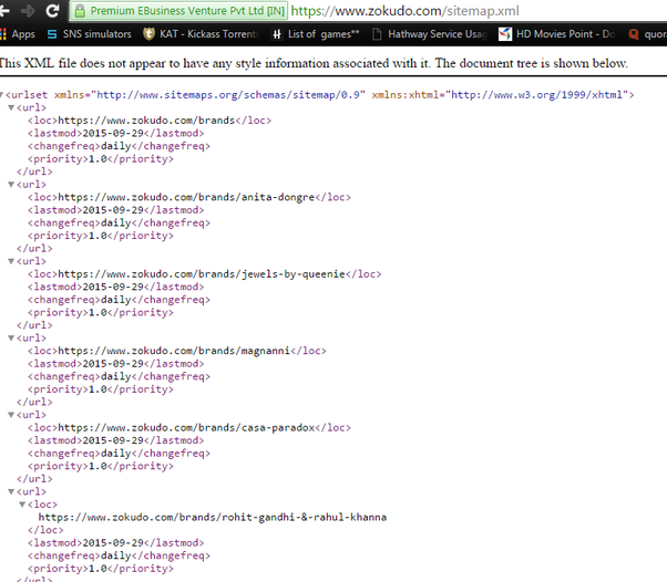 when we open sitemap xml through url what have to be open quora