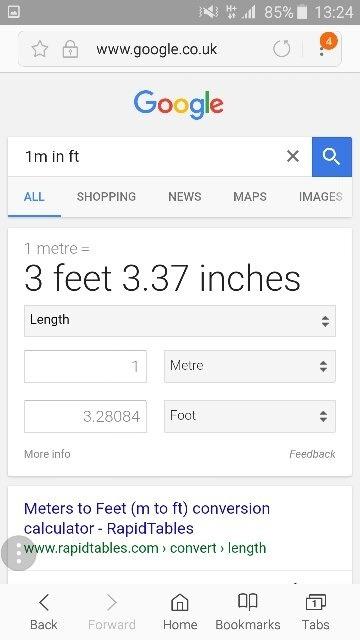 What Is 1 Metre In Feet Quora