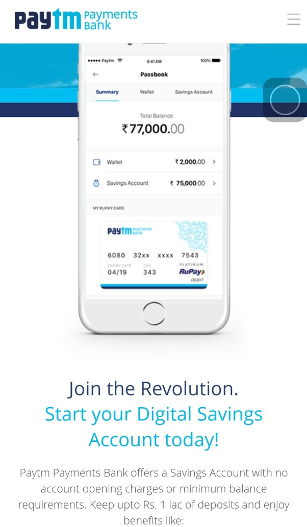 What is use of Paytm debit card? What is it's advantage over