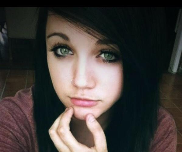 Normal Girl With Black Hair And Blue Eyes