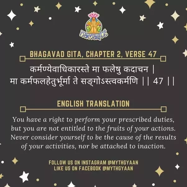 which is the best line shloka written in the bhagavad gita that can