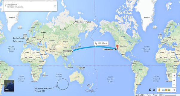 Where is china on a map why quora 11h25min to fly from la usa to shanghai china gumiabroncs Choice Image