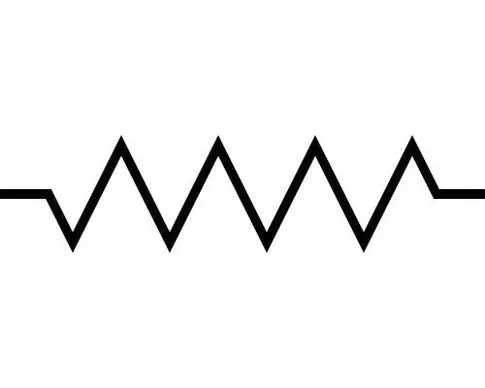 who discovered the electronic symbol for the resistor and