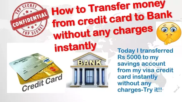 click herehow to transfer money from credit card to bank account instantly without any charges - Transfer Money From Credit Card To Prepaid Card Online