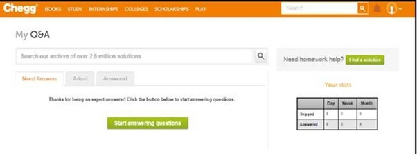How to start answering Chegg questions after submitting an