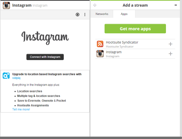 How to add multiple instagram accounts on hootsuite quora add the instagram app from the app directory add it as a new stream 2 connect the stream to your instagram account 3 add a new stream add instagram ccuart Gallery