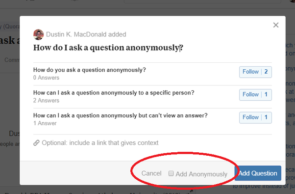 How to ask an anonymous question - Quora