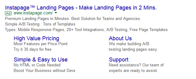 adwords sitelinks