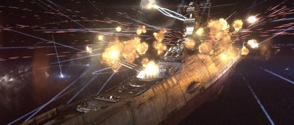 What would happen in a naval battle between 50 KM Bismarcks