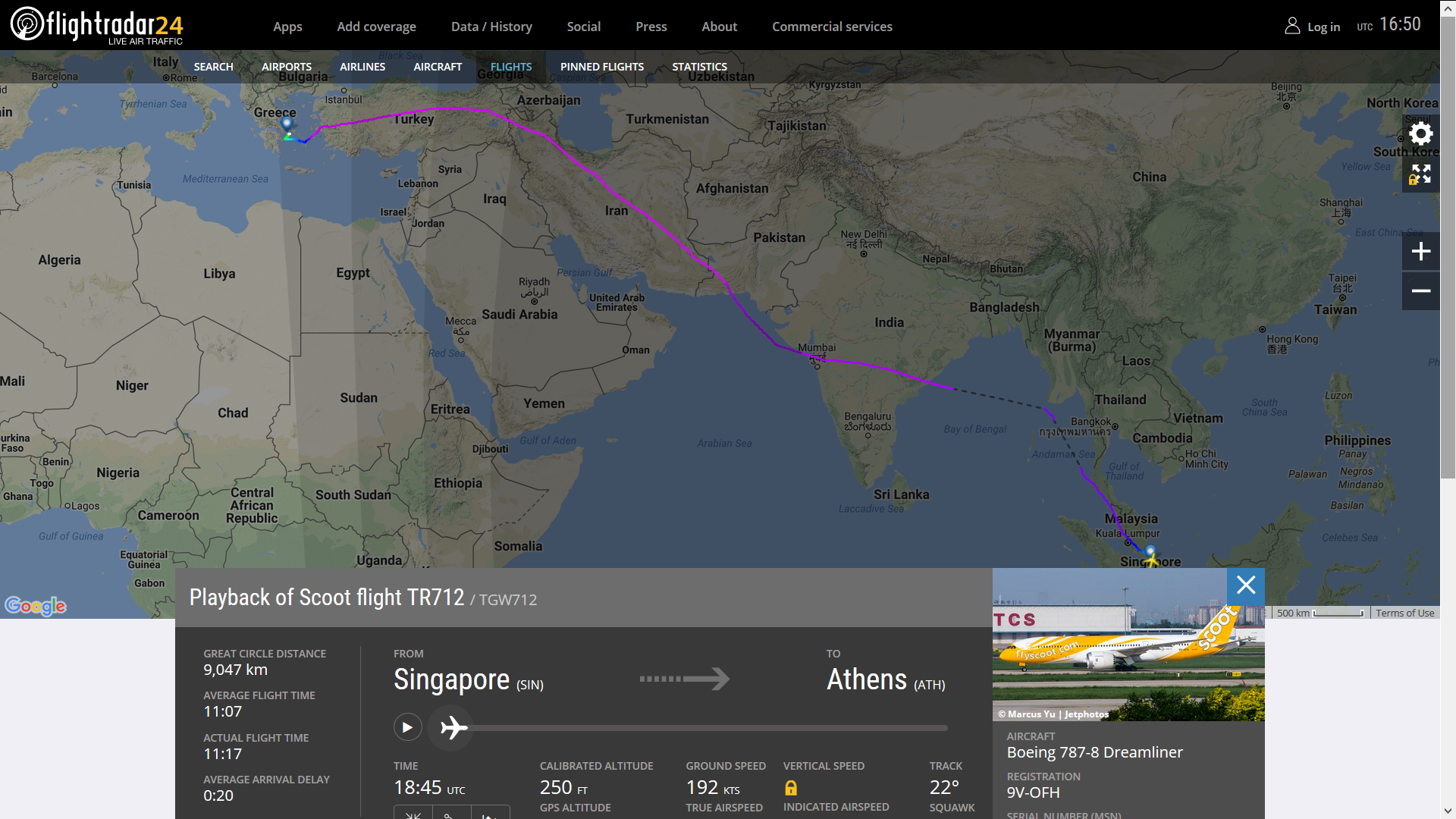 Does Scoot\'s Singapore to Athens flight pass through Iraq or Syrian ...