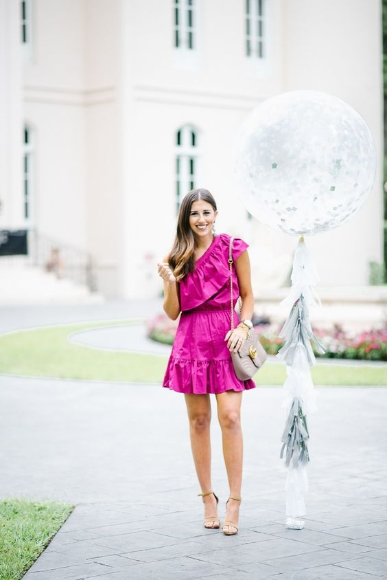 How To Accessorize A Hot Pink Dress Quora