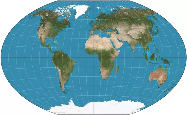 Why do maps distort the earth quora make sure that the distance between two chosen points can be measured correctly for example the winkel tripel which tries to minimize all distortions gumiabroncs Image collections