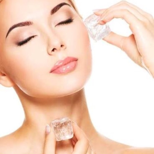 How to get rid of pimples with ice cubes