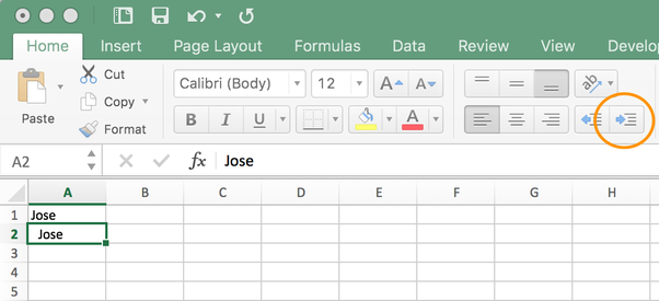 How to tab within an Excel cell - Quora