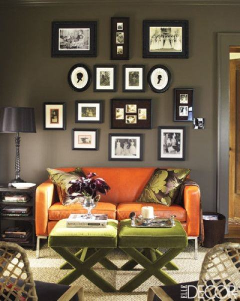 What Color Paint Goes Well With An Orange Couch?