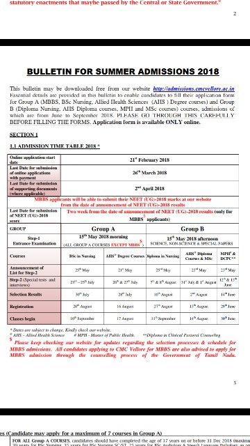 Can you tell me about the CMC Vellore exam date and admit card? - Quora