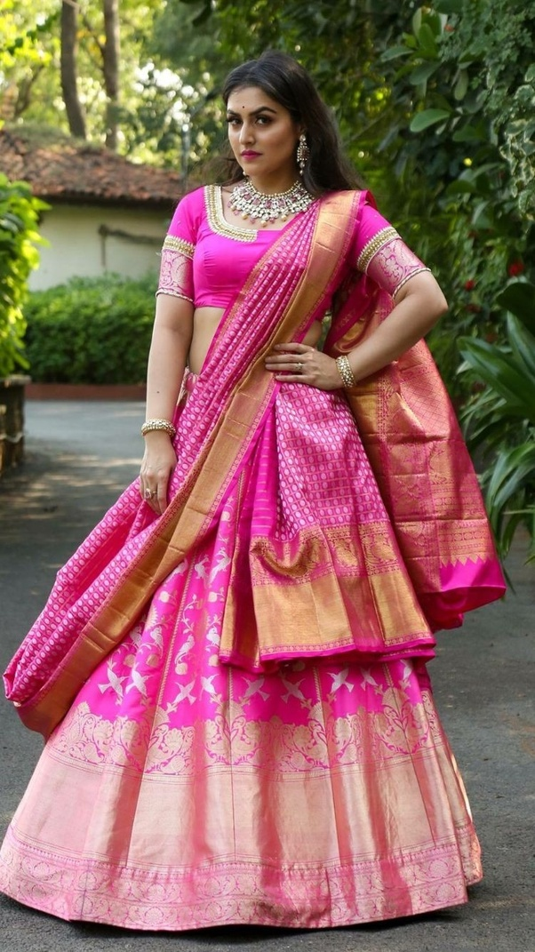 How To Drape A Lahenga Dupatta Like Saree Quora