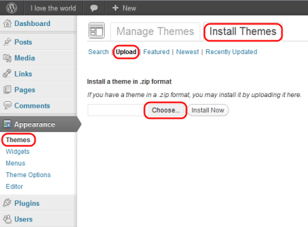 How to install wordpress theme in WebStarttoday - Quora