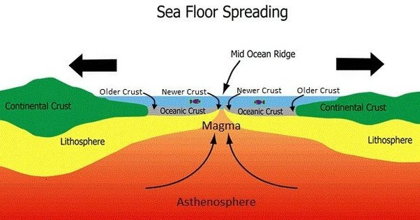 What Does The Process Of Sea Floor Spreading Entail Quora