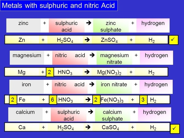 What would the reaction of iron and nitric acid? - Quora