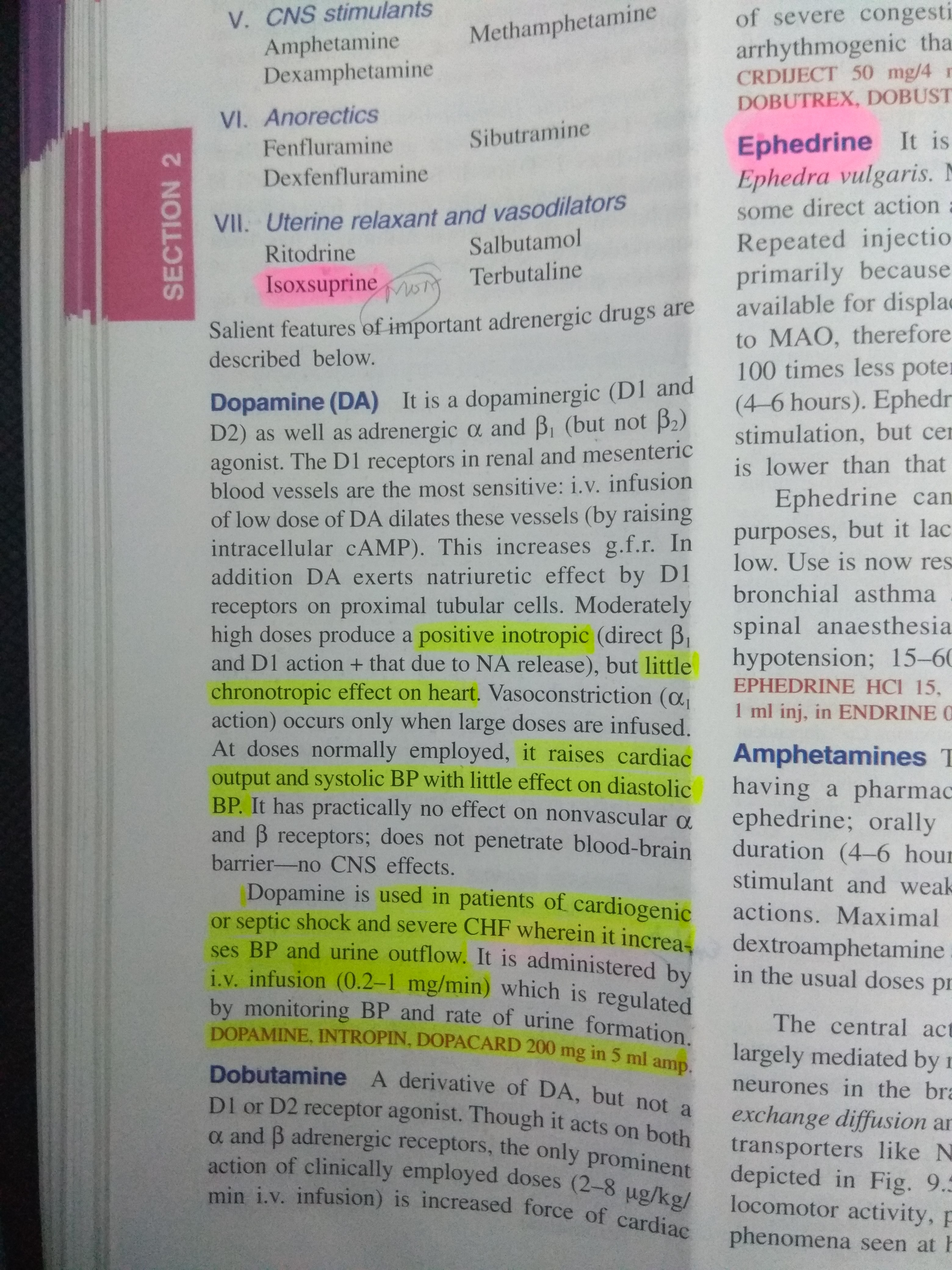 Why dopamine is given in hypovolemic shock rather than