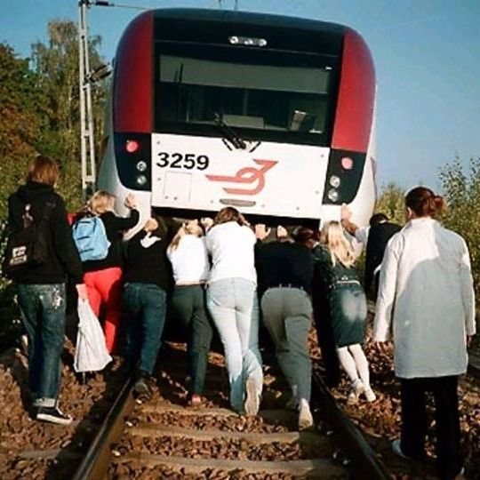 How Many People Would It Take To Push A Modern Train